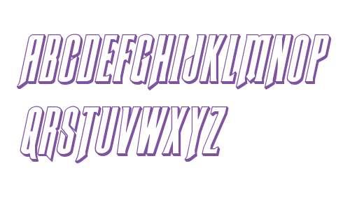 Butch & Sundance 3D Italic