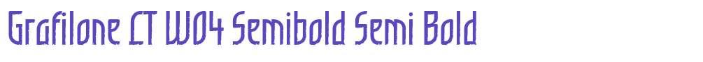 Grafilone LT W04 Semibold