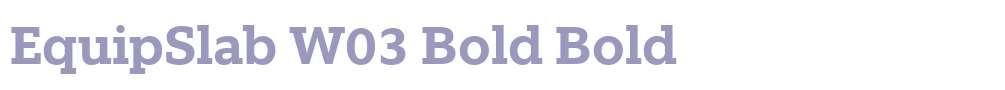EquipSlab W03 Bold