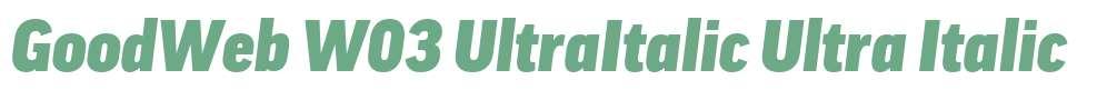 GoodWeb W03 UltraItalic