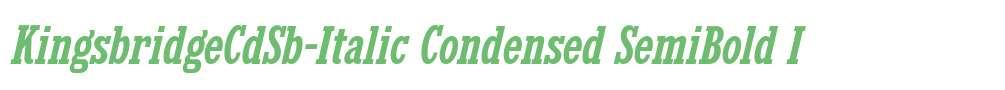 KingsbridgeCdSb-Italic