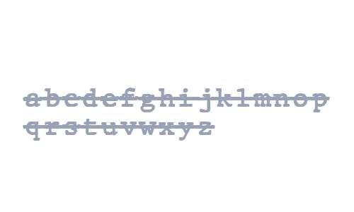 JMH Typewriter mono Over Regular