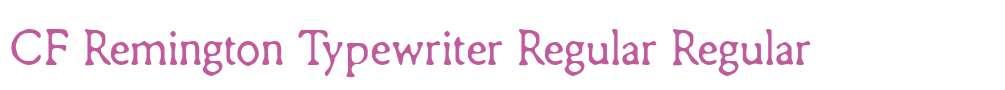 CF Remington Typewriter Regular