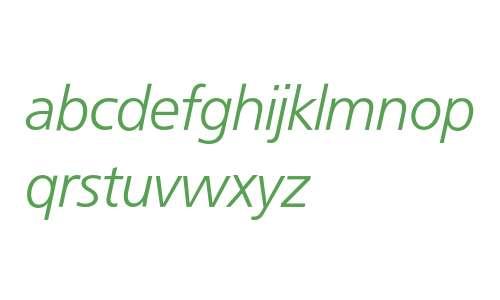 Frutiger* 46 Light Italic