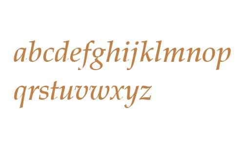 Palatino LT W04 Medium Italic