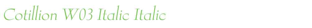 Cotillion W03 Italic