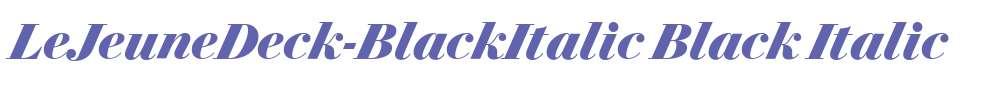 LeJeuneDeck-BlackItalic