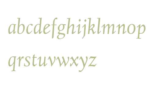 Juliana Text W01 Italic