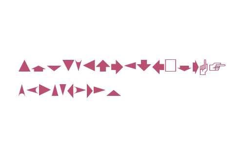 PIXymbols Arrows W95 Regular