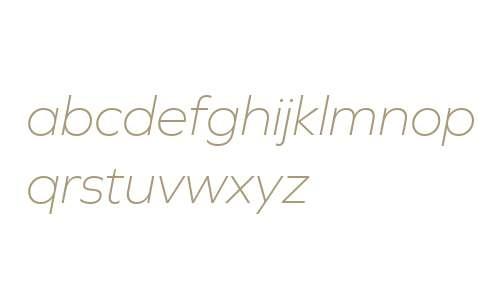 Graphie W03 ExtraLight Italic