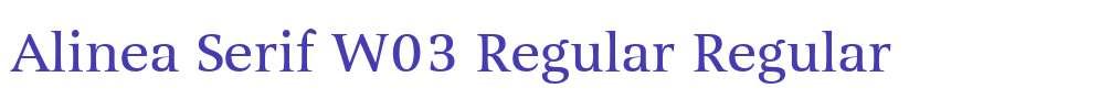 Alinea Serif W03 Regular