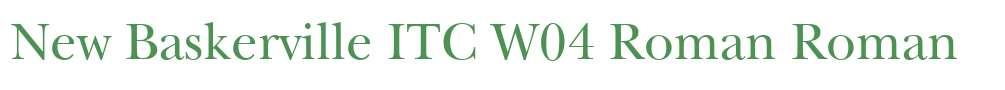 New Baskerville ITC W04 Roman