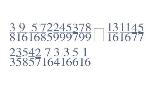 Seri Fractions Vertical W95
