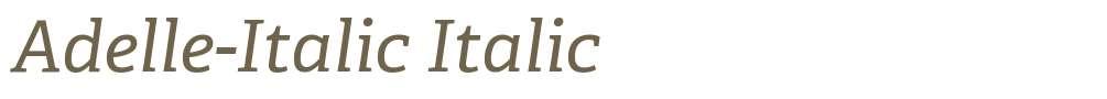 Adelle-Italic