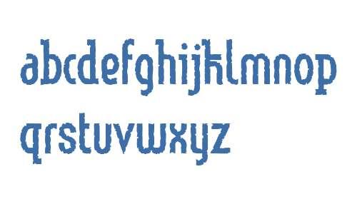 Linotype Method W01 Eroded