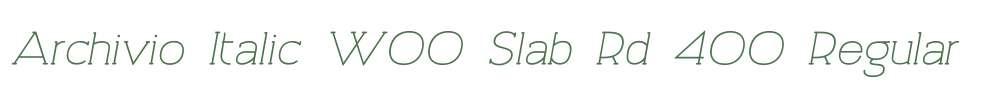 Archivio Italic W00 Slab Rd 400