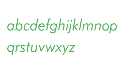 Bauer Grotesk OT W03 Italic