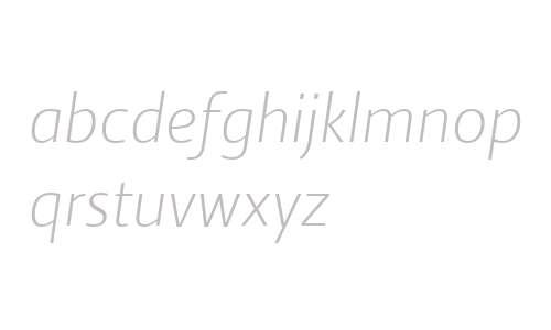 Ratio W00 Light Italic
