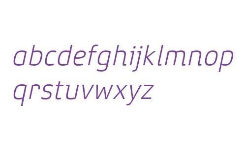Xenois Super W04 Light Italic