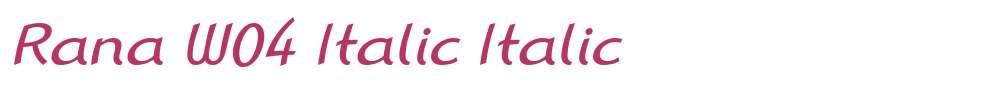Rana W04 Italic