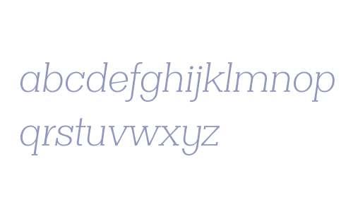 Clasica Slab W00 Light Italic
