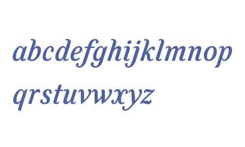 Felice W01 Medium Italic