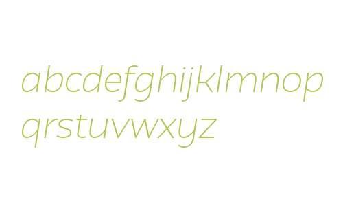 Atozimple ExtraLight Italic
