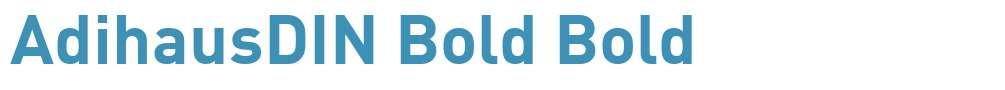 AdihausDIN Bold