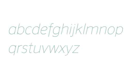 NuOrder W00 Thin Italic