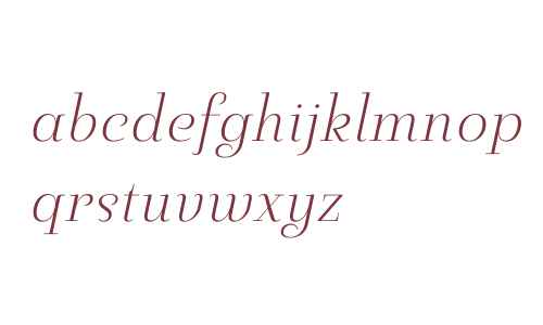 Pauline Didone W01 Light Italic
