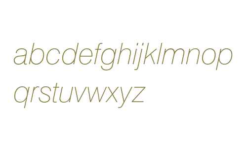 Swiss 721 Thin Italic