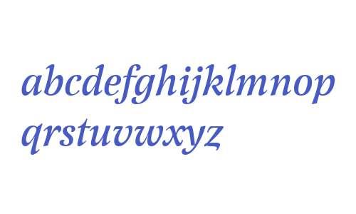 Latienne W01 Medium Italic