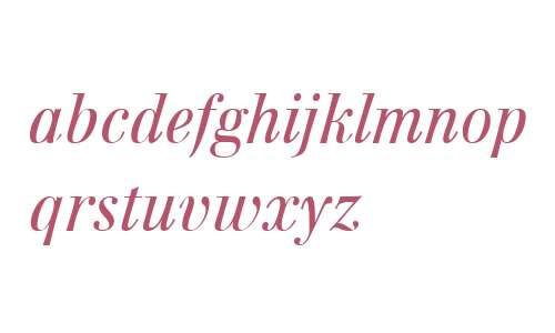 Walburn W01 Text Light Italic