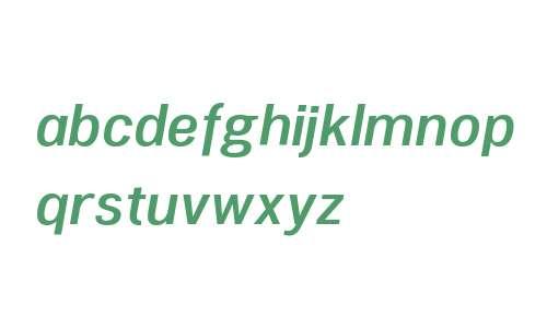 Woolworth W00 DemiBold Italic