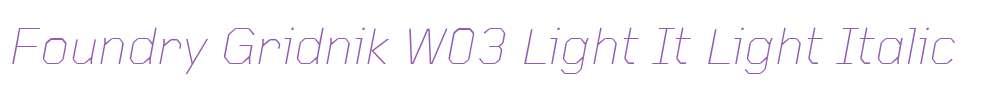 Foundry Gridnik W03 Light It