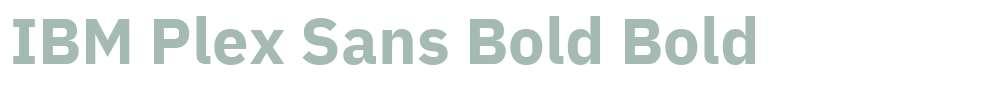 IBM Plex Sans Bold