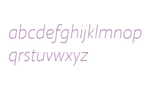 Ratio W03 Thin Italic