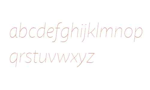Quire Sans W04 Thin Italic