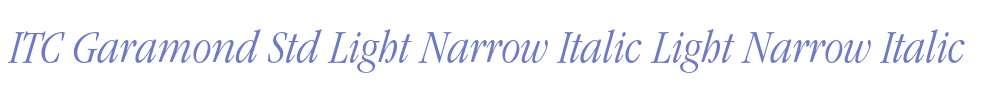 ITC Garamond Std Light Narrow Italic
