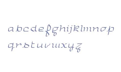 UniglowFifty Cursive W00 Rg