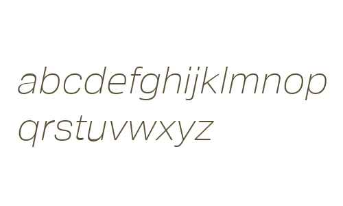 Crique Grotesk Display Thin Italic
