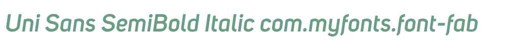 Uni Sans SemiBold Italic