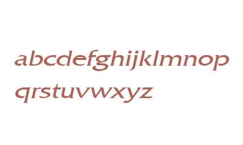 Franco Wide Italic