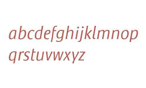 Satero Sans LT W04 Light Italic