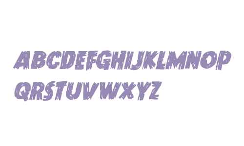Dokter Monstro Staggered Italic
