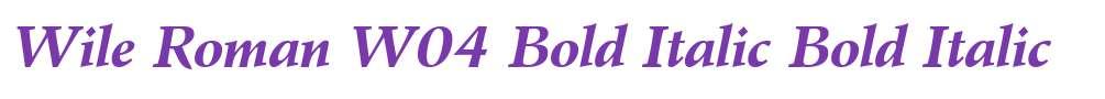 Wile Roman W04 Bold Italic