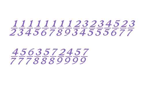 Ronaldson W00 Ital Fractions