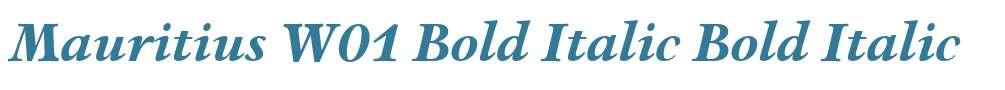 Mauritius W01 Bold Italic