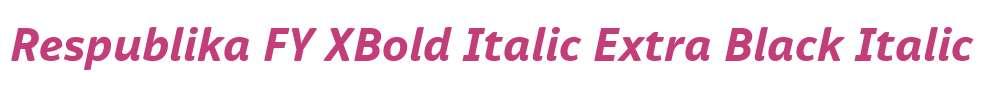 Respublika FY XBold Italic