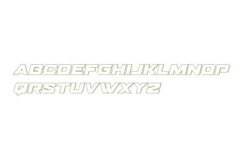 Bomber Escort Outline Italic